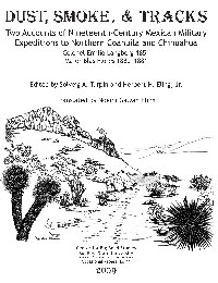 Dust, Smoke and Tracks: Two accounts of nineteenth-century Mexican military expeditions to Northern Coahuila and Chihuahua